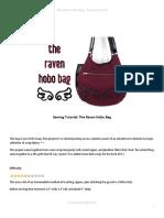 Sewing Tutorial the Raven Hobo Bag by Shoriameshiko-d6m49j7