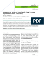 Data Security Strategy Based on Ar tificial Immune Algorithm for Cloud Computing