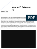 Managing Yourself_ Extreme Productivity