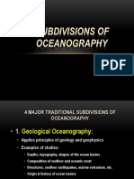 Subdivision of Oceanography