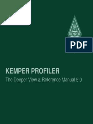 Kemper Profiler Reference Manual 5 0 (English) | Amplifier