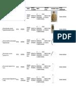 Inventario de Materiais e Inventario de Pezas Arqueolóxicas Do Proxecto, 2013, Deputación de Pontevedra (en Castelán)