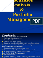 Securities Analysis & Portfolio Management Intro