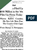 WSJ 1977 Article on Warren Buffett