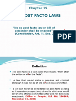 Ex Post Facto Law