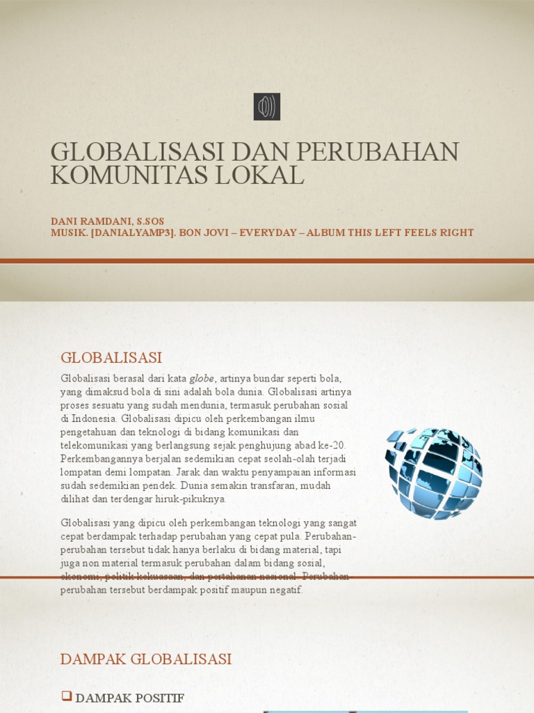 Makalah Globalisasi Dan Perubahan Komunitas Lokal Pdf Contoh Makalah