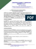 Contrato de Maestro Topografo - Contrato Nº 001-2013