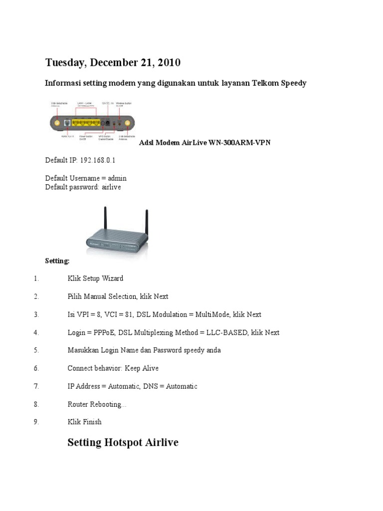 Driver for AirLive WN-300ARM-VPN B