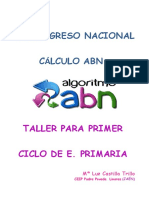 Taller Primer Ciclo. Mª Luz Castilla Trillo