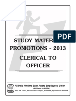 Promotion Study Material for bank