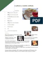Pollo Relleno Con Piñones y Cebolla Confitada