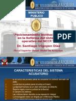 """""""Posicionamiento Institucional en La Reforma Del Sistema Operativo Del NCPP."""""""