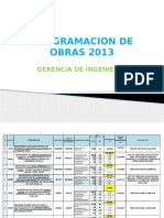 Programacion de OBRAS Para 2013