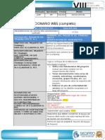 Diccionario de La EDT.cierRE
