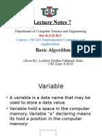 Modified Leture Notes 7 (CSC-103)Algorithm