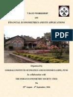 Workshop Brochure - Fin Econometrics