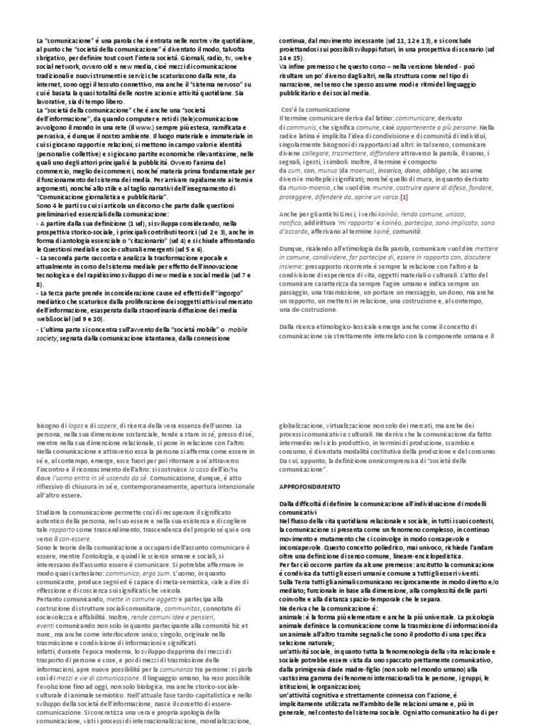 Dispense Sociologia della Comunicazione f2cdeaeb6ba