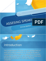 92805148 Assessing Speaking Presentation 20412