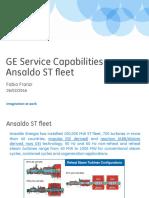 GE Capabilities for Ansaldo Fleet