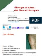 3 Maladie de Buerger ARMV 3122016 S Le Jeune