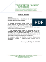 Carta Poder - 2013