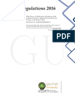 PhD Regulations - 2016 (Gauhati University)