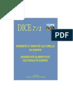 Diversité et Identité Culturelle en Europe (DICE) 7.1 (ABSTRACTS)