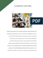 sameirah saeed - h00252950- journal 1 using manipulative and models