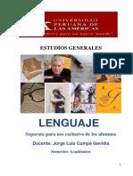 Fichas de Trabajo Del Curso Lenguaje