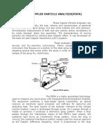 Phase Doppler Particle Analyzer