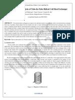 2014, Mrunal P.kshirsagar, Et Al, Fabrication and Analysis of Tube-In-Tube Helical Coil Heat Exchanger