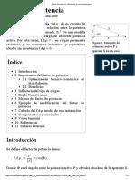 Factor de Potencia - Wikipedia, La Enciclopedia Libre