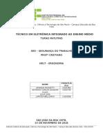 Relatório NR17 - Ergonomia
