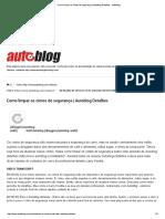 Como Limpar Os Cintos de Segurança _ Autoblog Detalhes - Autoblog