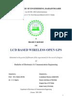 Project Report on lcd based wireless open gps tracker