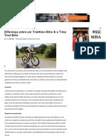 Diferença Entre Um Triathlon Bike & Uma Bicicleta Time Trial _ LIVESTRONG