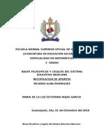 Bases filosóficas y legales de la educación basica
