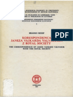 Correspondence Janez Vajkard Valvasor with Royal Society, Introd.1-17
