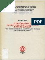 Correspondence Janez Vajkard Valvasor with Royal Society, Introd.1-17