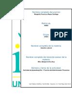 Actividad de Aprendizaje No. 1 Función Del Administrador Financiero - Copia