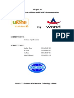 Report on comparision on warid and ufone