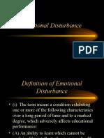emotional disturbance