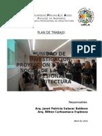 Plan de Trabajo Unidad de Tutoria Arquitectura 2016