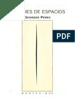 """PEREC, G. """"Especies de Espacios"""". [Libro]"""