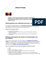 Conseils Relations Presse