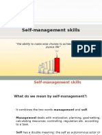 Self-management Skills
