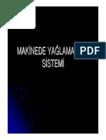 Dizel Makinede Yaglama Yagi Sistemi