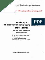 Tuyển Tập Đề Thi Tuyển Sinh THPT Chuyên Toán - Nguyễn Vũ Lương, 40 Trang