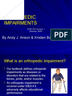 orthopedic impairments 2