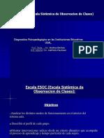 Escala ESOC (Escala Sistèmica de Observacion de Clase)